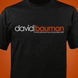 David Bauman International Recording Artist tee